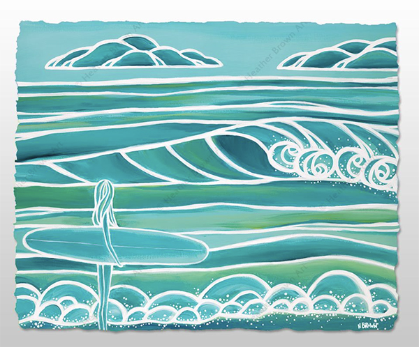 spring by heather brown modern surfing art
