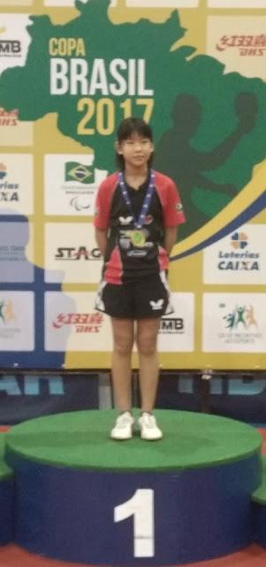 Registrense Karina Ayumi Senaga Shiray é convocada para Seleção Brasileira SUB-11 do Tênis de Mesa