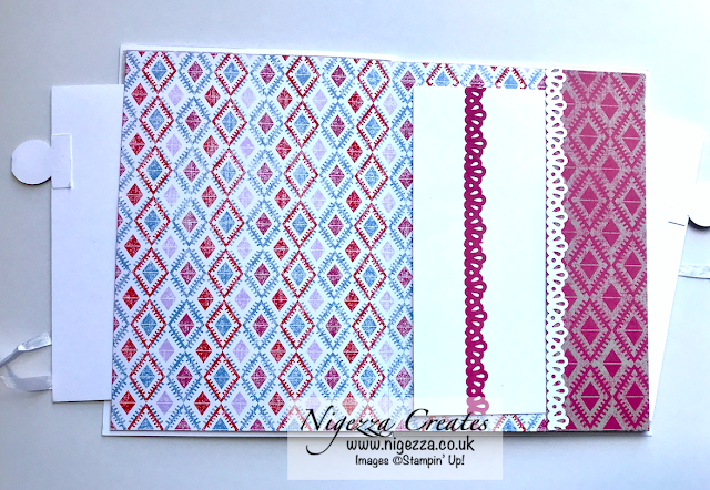 Nigezza Creates with Stampin' Up! to make a Mini Album with Woven Threads DSP