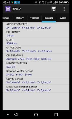 Cara Cek Sensor Smartphone Menggunakan CPU-Z