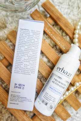 Ingredients Erha Truwhite Activator Night Cream