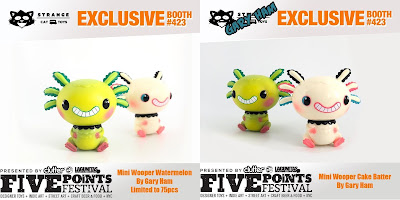 Five Points Festival 2019 Exclusive Mini Wooper Looper Watermelon & Cake Batter Edition Vinyl Figures by Gary Ham x Strangecat Toys x Pobber