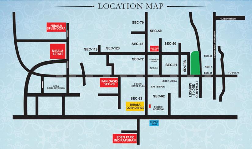 Nirala-estate-commercial-location-map
