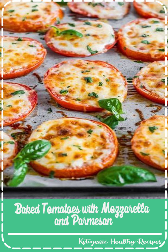 AKED TOMATOES are a super quick and super easy side dish or appetizer for any occasion! These cheesy Baked Tomatoes with Mozzarella and Parmesan cheese are so simple yet incredibly delicious. They are always a hit when we make them and get eaten right away. These Baked Parmesan Tomatoes are just too tasty and fresh