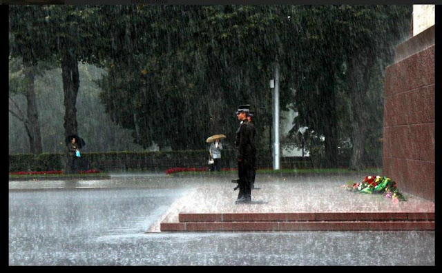 20 мая 2014 года. Почетный караул возле монумента Свободы