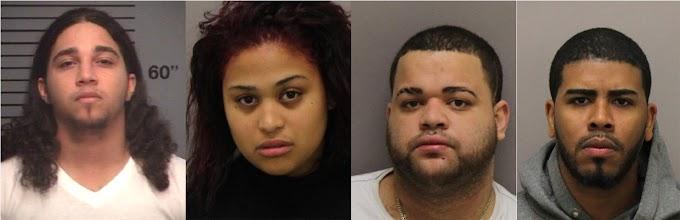 Tres hombres y una mujer de RD acusados en NJ por intento de asesinato a un policía