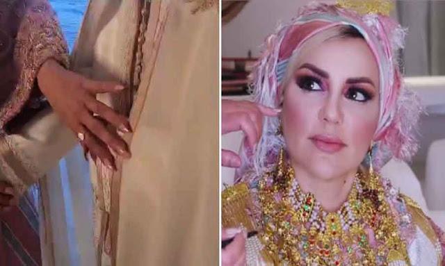 منال عمارة تحتفل بعقد قرانها manel amara mariage