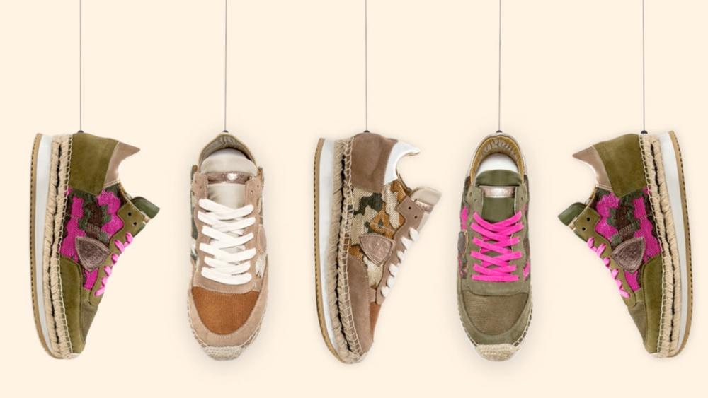 Philippe Model vereint Sneaker und Espadrille in einem Schuh