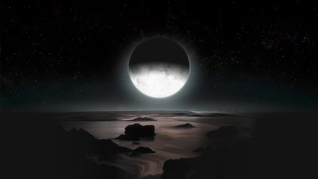 Pluto by Moonlight