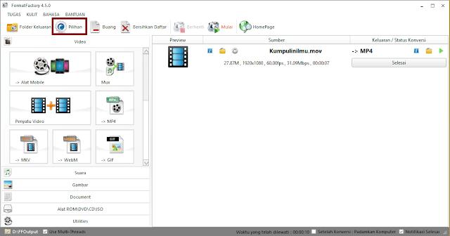 Merubah Format Video