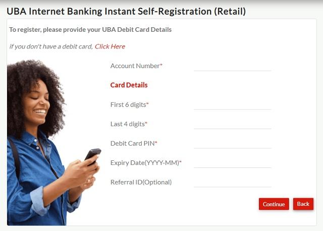 How to register for UBA Nigeria Internet Banking