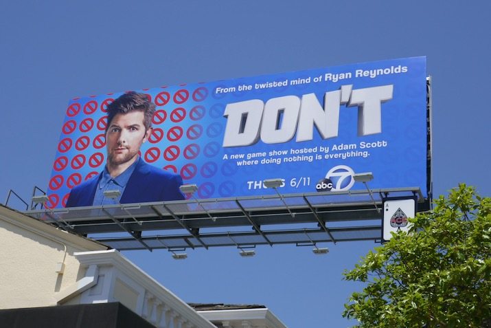 Adam Scott Dont TV series billboard
