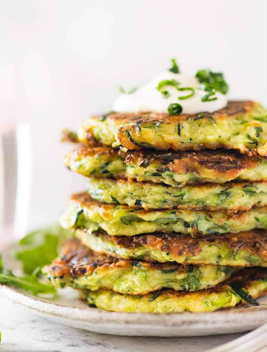 Zucchini Fritters #dietketo #food #yummy #easy #vegetarian