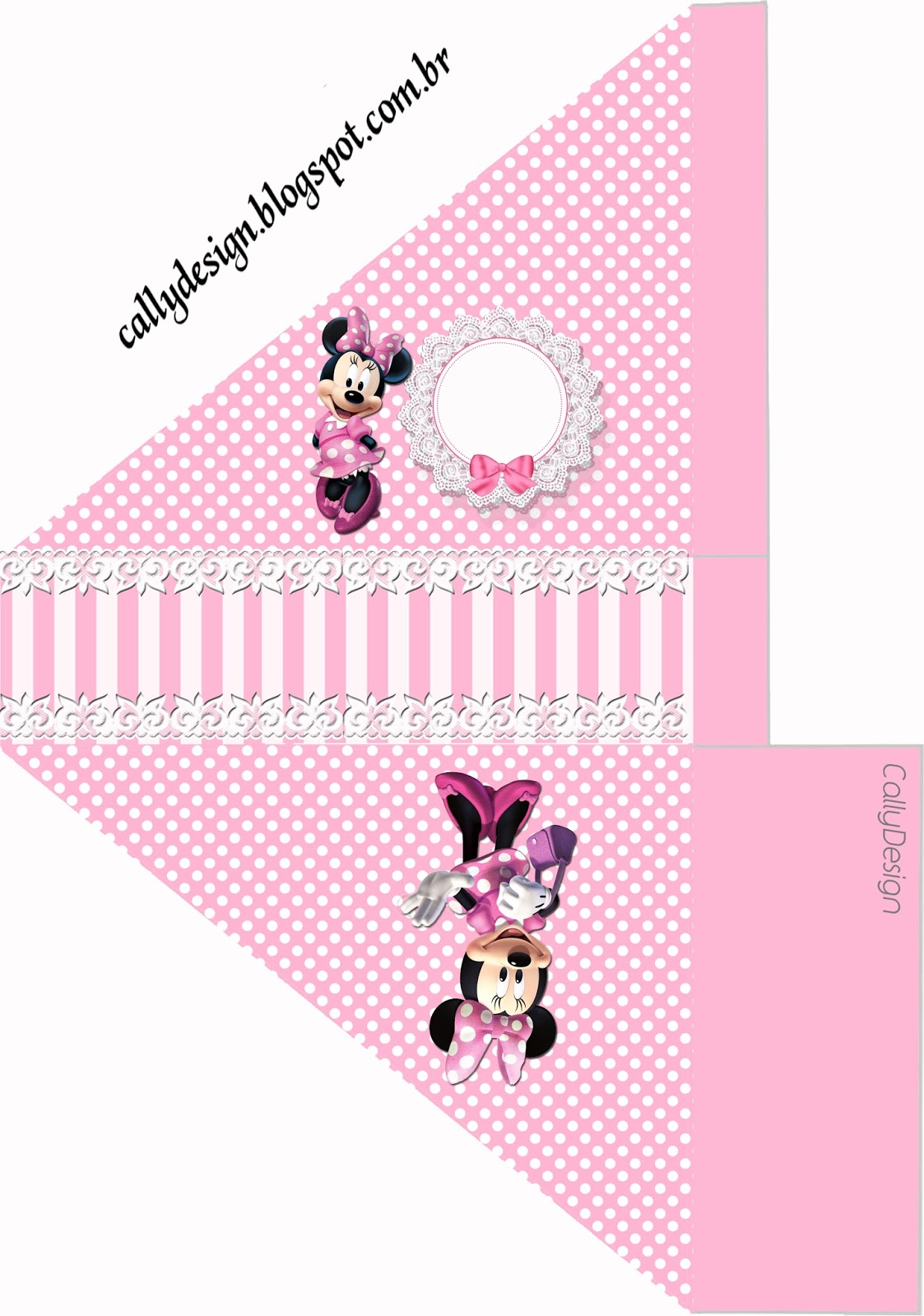 porta guardanapos minnie rosa