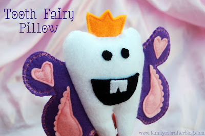 DIY Tooth Fairy Pillow - so cute!! Head to the blog to learn HOW TO make this cute pillow.