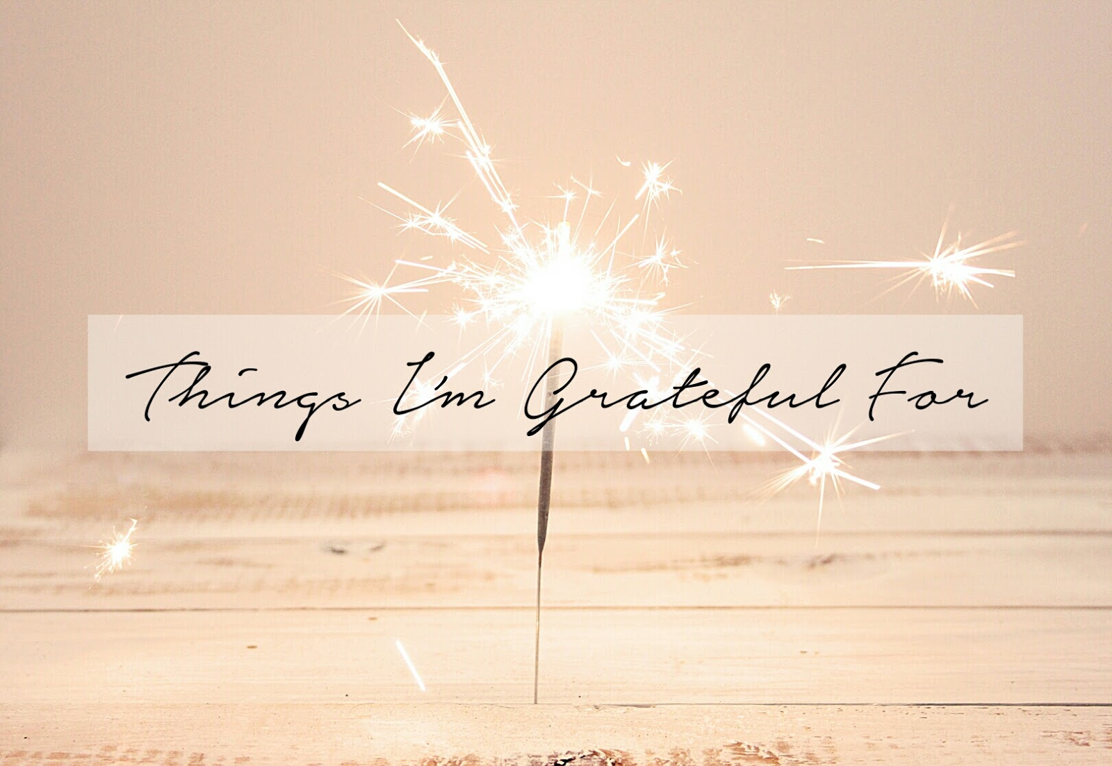 Things I'm Grateful For | LENNE ZULKIFLLY