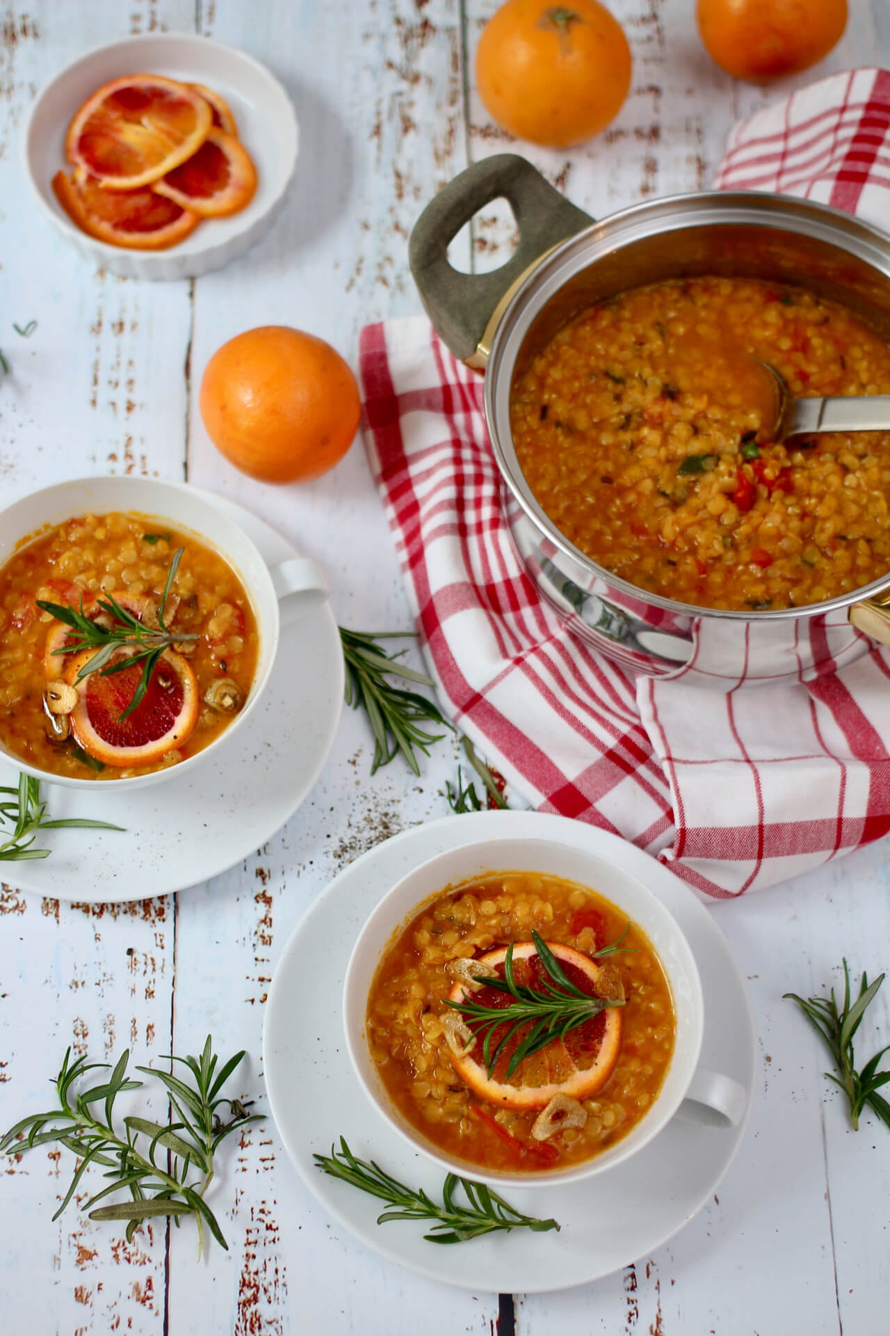 Rote Linsen Suppe Vegan