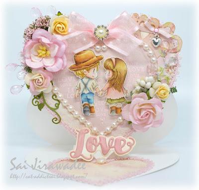 Heart Easel Card Dreamerland Crafts stamp