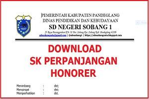 Download SK Perpanjangan Guru Honorer Sekolah