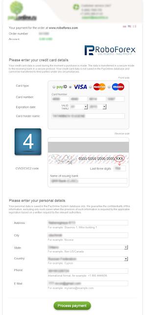 Hướng Dẫn Nạp Tiền Vào Tài Khoản RoboForex Bằng ViSa/Master Card