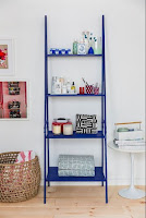 Decorating open shelves storage
