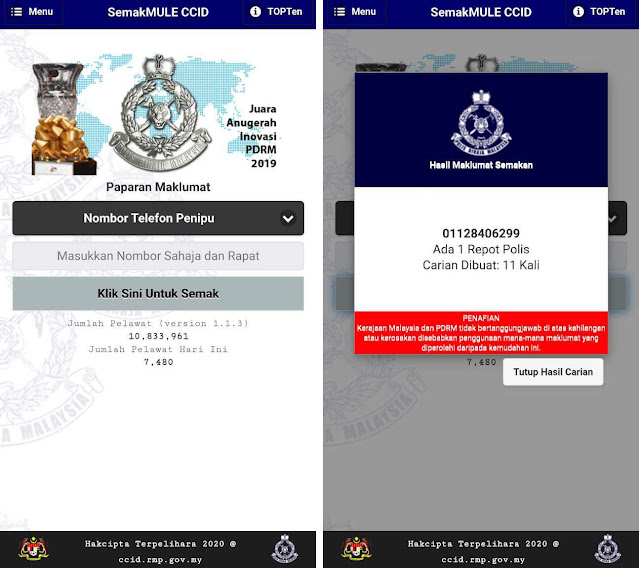 Cara Check Scammer Online aplikasi