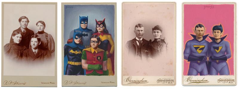 Personajes de antiguas fotografías se convierten en superhéroes