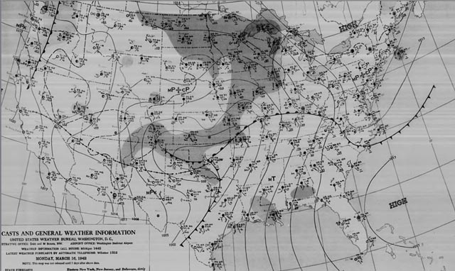 Weather map, morning of 16 March 1942 worldwartwo.filminspector.com