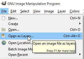 Open frames as layers