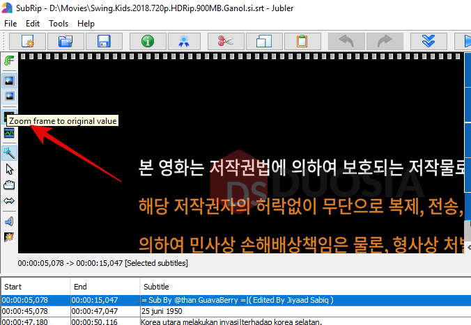 cara mengedit subtitle video hardsub mudah