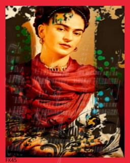 altered art frida kahlo