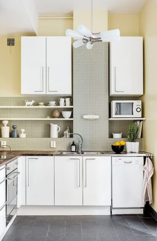 Kitchen design with tablets.