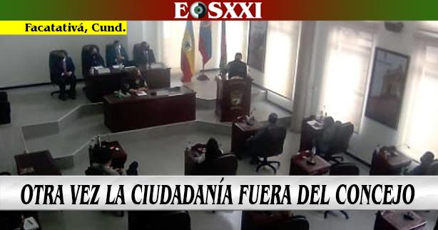 La Alcaldía impidió el ingreso de la ciudadanía al Concejo Municipal