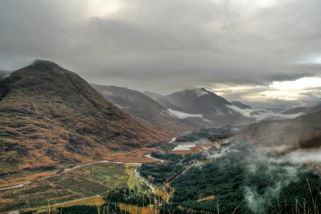 View down Glen Etive