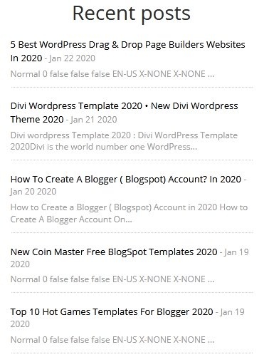 Simple Very Cool Style Recent Post Widgets for Blogger with Image Thumbnails