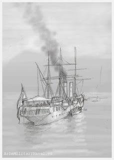 Boceto crucero Reina Mercedes 6