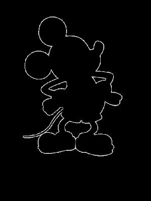 Silueta de mickey mouse