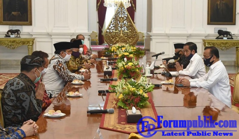 Bersama Tokoh Lintas Agama, Presiden Jokowi dan Wakil Bahas Penanganan Covid-19