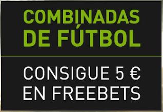 Bet777 Combinadas de fútbol FREEBET 5 euros semanales hasta 30-4-2021