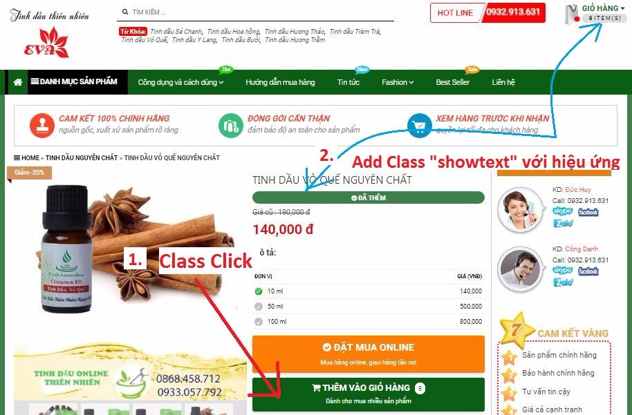 Javascript Click to add class (Click để thêm class) cho blogger và ứng dụng