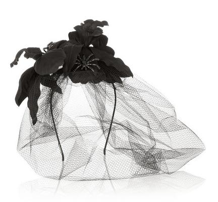 Jennifer Behr diadema con redecilla flores