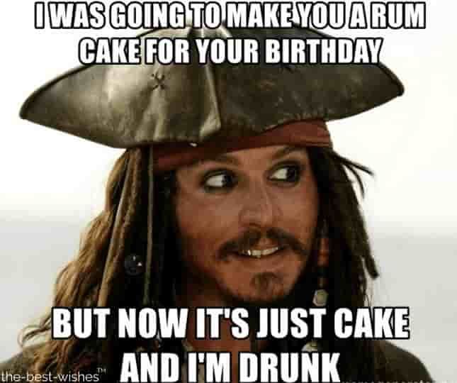 funny jack sparrow happy birthday memes pictures