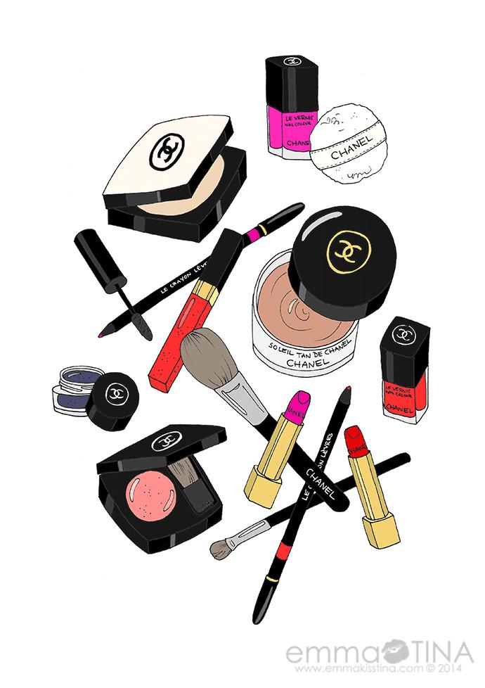 Cosmetics Channel Get Awardwinning Beauty Stila Color: EmmaKisstina Illustrations By Kristina Hultkrantz: Chanel