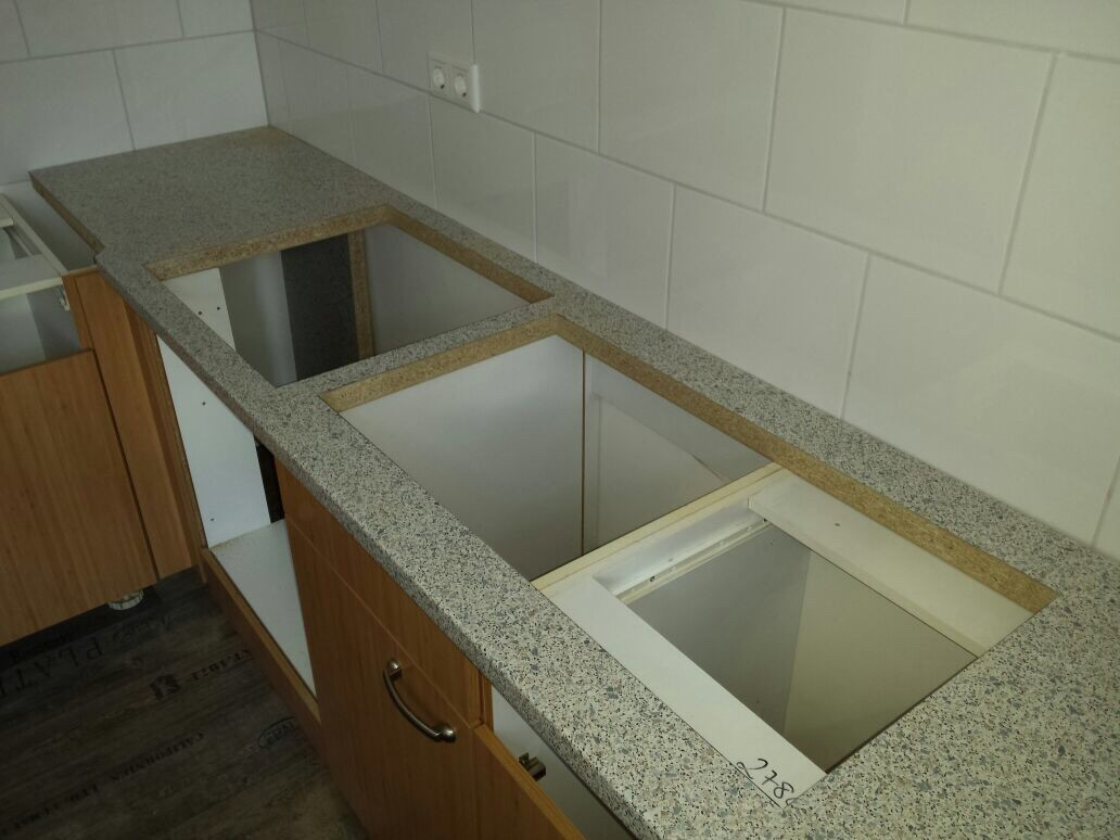 bauhaus arbeitsplatte k che zuschnitt home sweet home. Black Bedroom Furniture Sets. Home Design Ideas