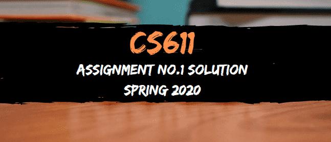 cs611 assignment