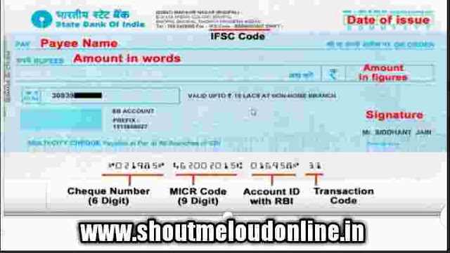 Cheque book kaise bhare