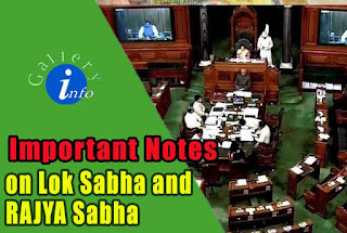 Short Notes on Lok Sabha and Rajya Sabha