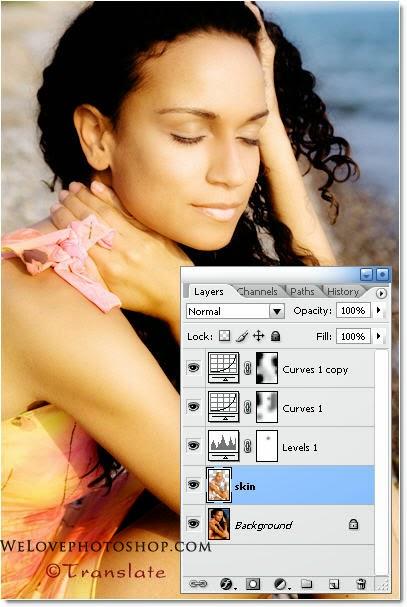 Làm da sáng mịn với Photoshop