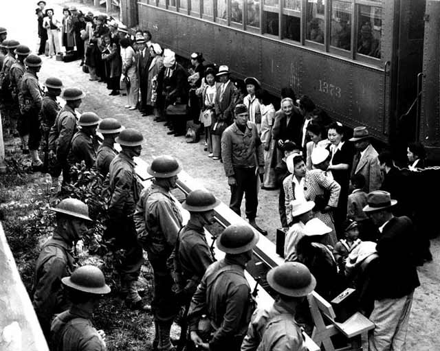 Japanese internees at Santa Anita, 5 April 1942 worldwartwo.filminspector.com