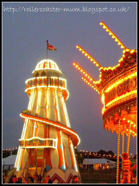 Carfest, Helter Skelter and Carousel at night, Children in Need